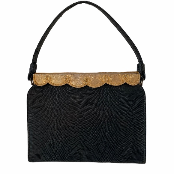 After Five black gold bag / chained change purse